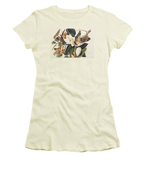 Cuckoo On Magnolia Grandiflora Women's T-Shirt (Athletic Fit)