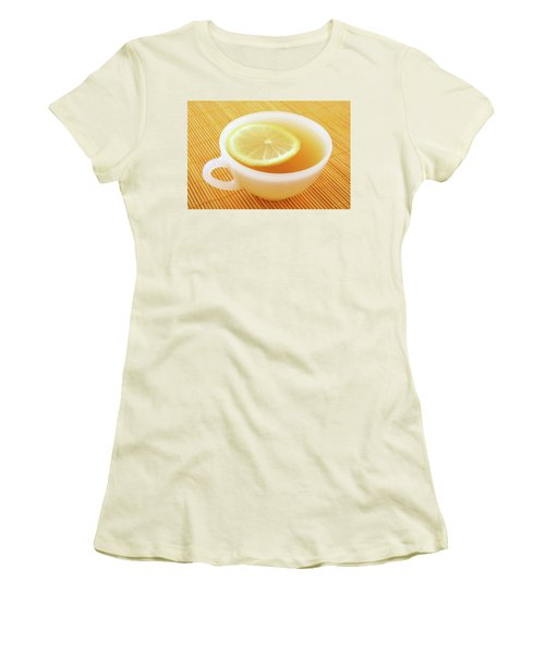 Cup Of Tea With Lemon In Warm Golden Light Women's T-Shirt (Athletic Fit)