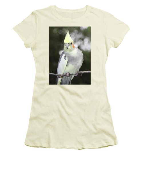Curious Cockatiel Women's T-Shirt (Athletic Fit)