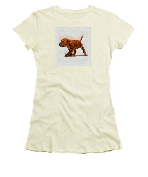 Women's T-Shirt (Junior Cut) featuring the photograph Daddies Girl by John  Kolenberg