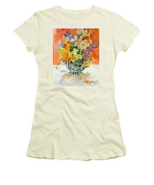 Daffs And Daisies Women's T-Shirt (Athletic Fit)