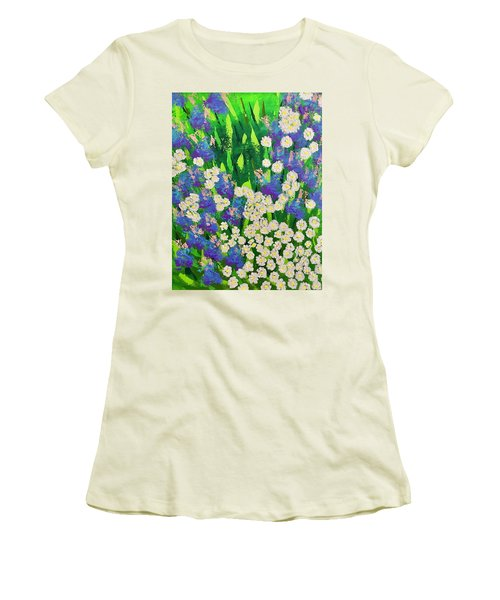 Daisy And Glads Women's T-Shirt (Junior Cut) by George Riney