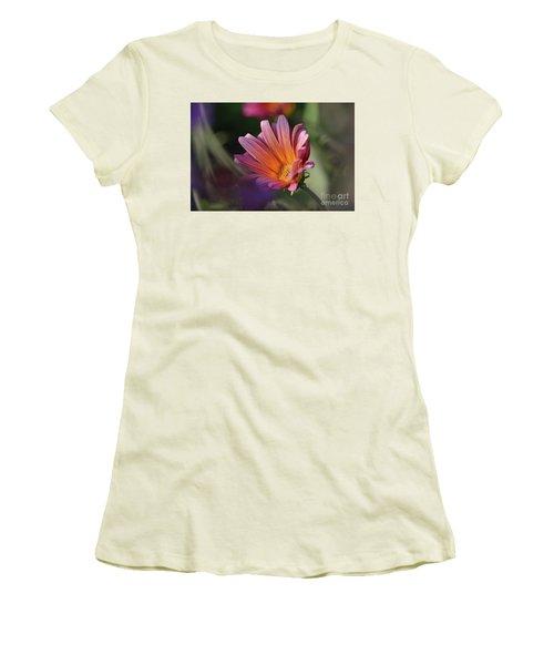 Women's T-Shirt (Junior Cut) featuring the photograph Daisy At Dusk by Debby Pueschel
