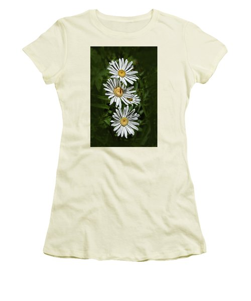 Women's T-Shirt (Junior Cut) featuring the photograph Daisy Chain by Marie Leslie