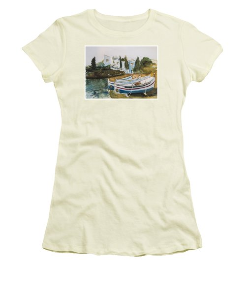 Dali House From Portlligat Women's T-Shirt (Junior Cut) by Manuela Constantin