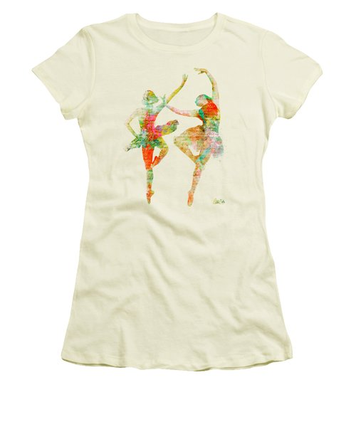Dance With Me Women's T-Shirt (Junior Cut) by Nikki Smith