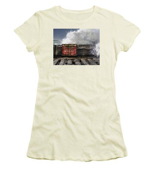 Danger Women's T-Shirt (Junior Cut) by Greg Nyquist