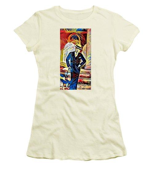Dapper Dude Women's T-Shirt (Athletic Fit)