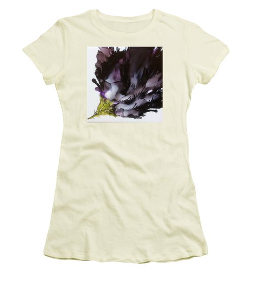 Women's T-Shirt (Junior Cut) featuring the painting Dark Beauty by Pat Purdy