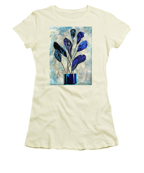 Dark Blue Women's T-Shirt (Athletic Fit)