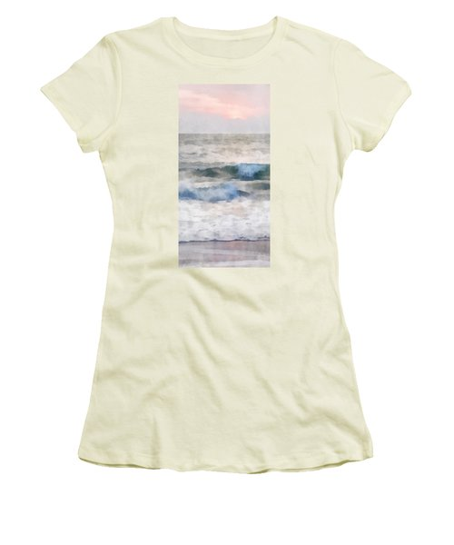 Dawn Beach Women's T-Shirt (Junior Cut) by Francesa Miller