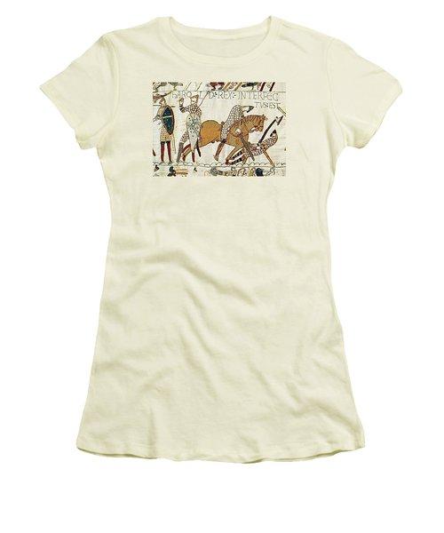 Death Of Harold, Bayeux Tapestry Women's T-Shirt (Junior Cut)