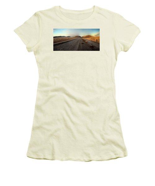 Death Valley Hitch Hiker Women's T-Shirt (Junior Cut) by Gary Warnimont