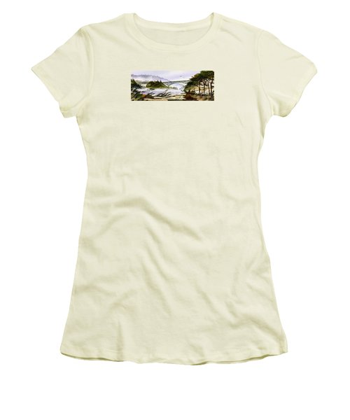 Deception Pass Bridge Women's T-Shirt (Athletic Fit)
