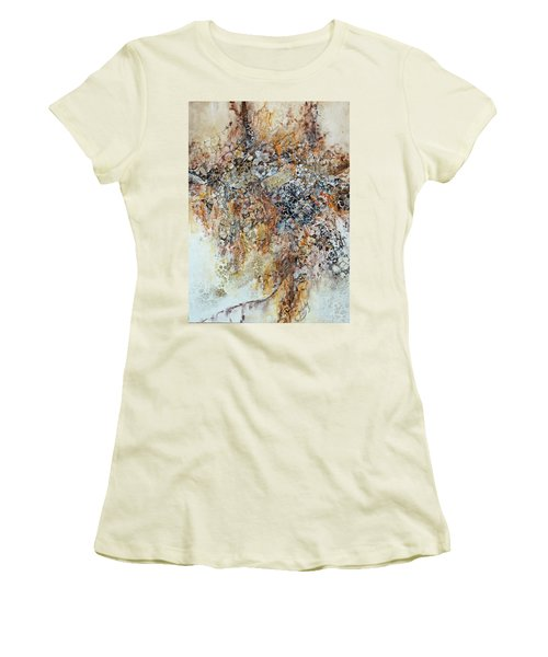 Women's T-Shirt (Junior Cut) featuring the painting Decomposition  by Joanne Smoley