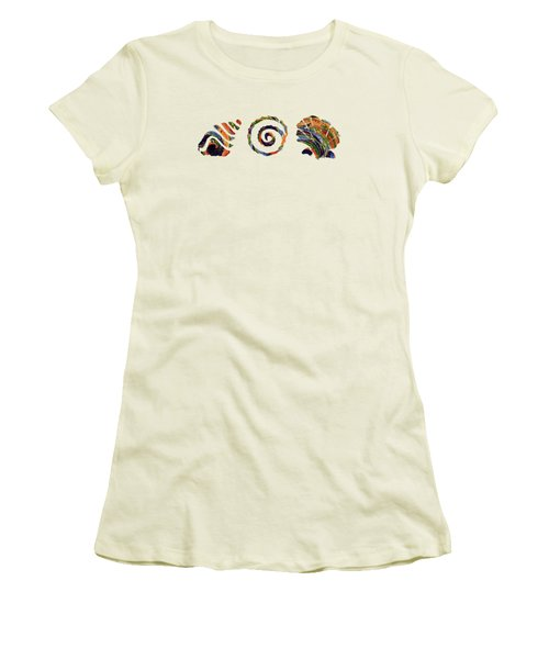Deep Sea Shell Trio Women's T-Shirt (Athletic Fit)
