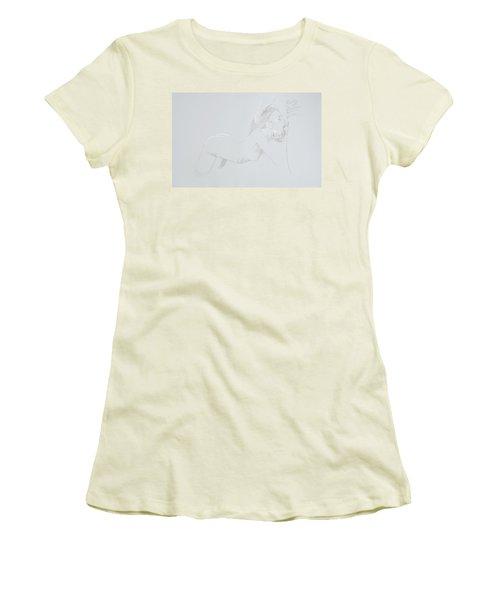 Women's T-Shirt (Junior Cut) featuring the mixed media Deepthroat by TortureLord Art