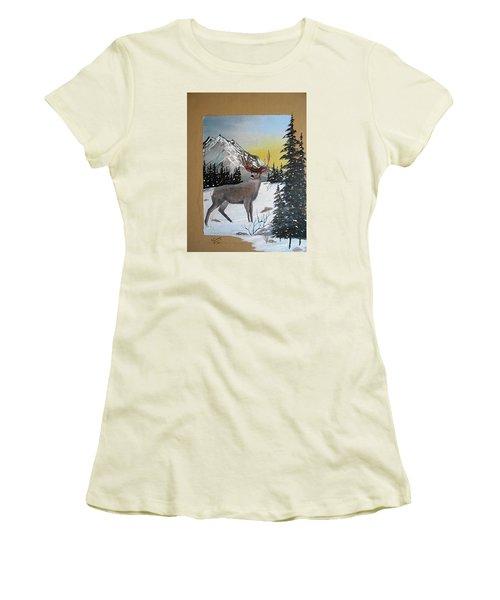 Deer Hunter's Dream Women's T-Shirt (Athletic Fit)