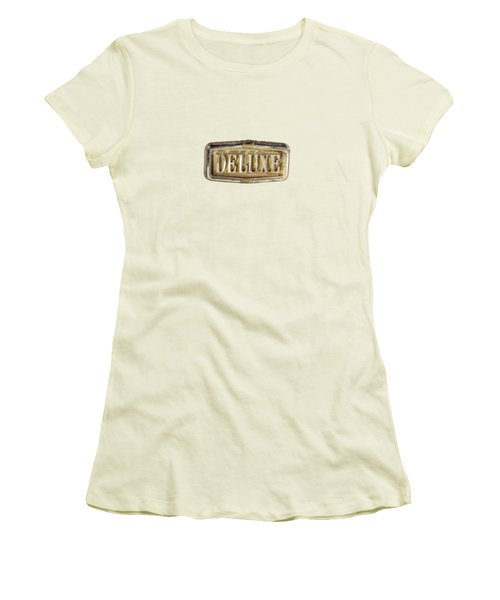 Deluxe Chrome Emblem Women's T-Shirt (Junior Cut) by YoPedro