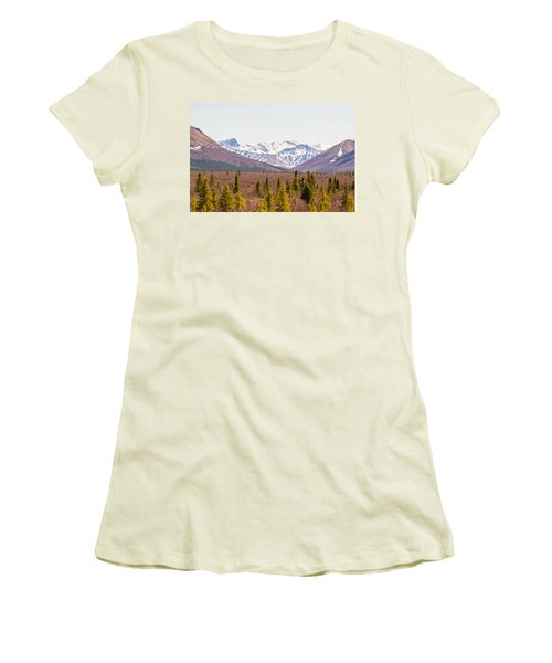 Denali Wilderness Beauty Women's T-Shirt (Junior Cut) by Allan Levin
