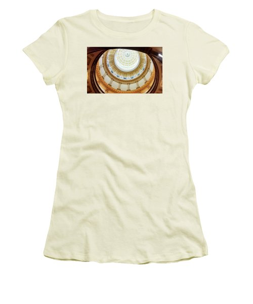 Women's T-Shirt (Junior Cut) featuring the photograph Denver Capitol Dome 1 by Marilyn Hunt