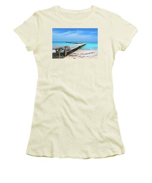 Departure Point Soft Women's T-Shirt (Athletic Fit)
