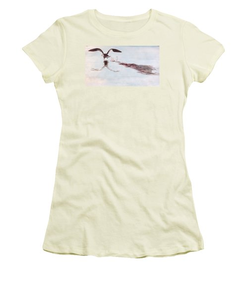 Women's T-Shirt (Junior Cut) featuring the painting Departure by Stan Tenney