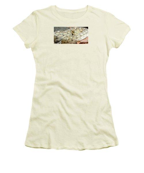 Desert Horned Viper Women's T-Shirt (Junior Cut) by KD Johnson