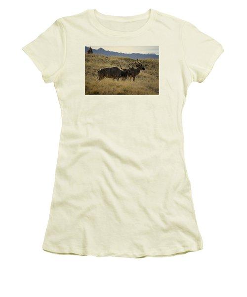 Desert Palm Landscape Women's T-Shirt (Junior Cut) by Guy Hoffman