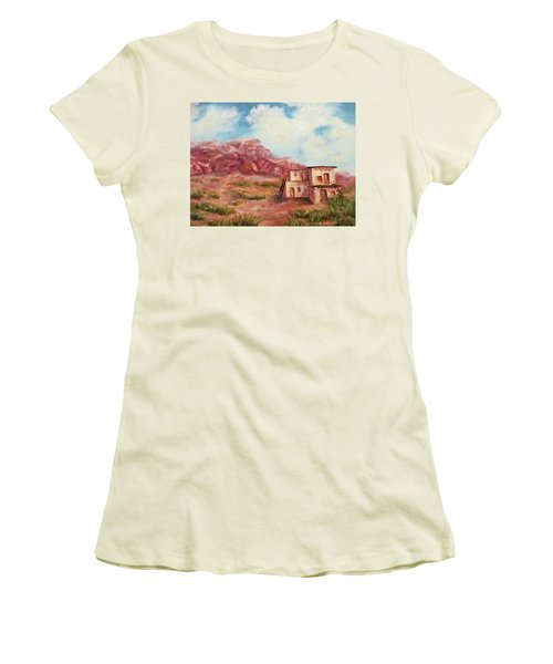 Desert Pueblo Women's T-Shirt (Junior Cut) by Roseann Gilmore