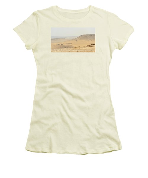Women's T-Shirt (Athletic Fit) featuring the photograph Desert by Silvia Bruno