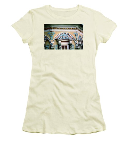 Detail Of Trinity Lavra Of St. Sergius Monastery Sergiev Posad Women's T-Shirt (Junior Cut) by Wernher Krutein
