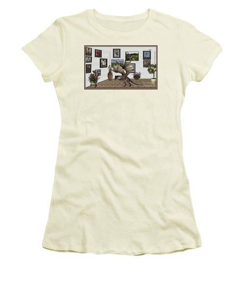 Digital Exhibition _ Dragon Women's T-Shirt (Junior Cut) by Pemaro