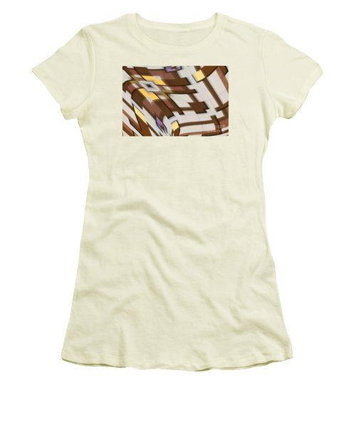 Women's T-Shirt (Athletic Fit) featuring the digital art Distortion by Wendy Wilton