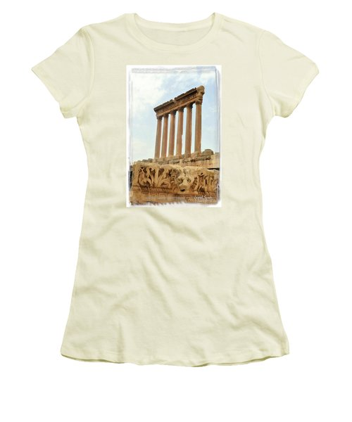 Do-00314 The 6 Corinthian Columns In Baalbeck Women's T-Shirt (Athletic Fit)