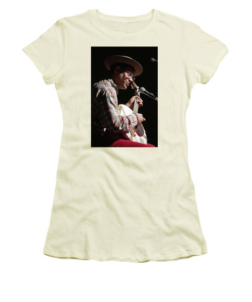 Women's T-Shirt (Junior Cut) featuring the photograph Dom Flemons by Jim Mathis