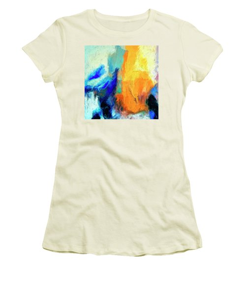 Women's T-Shirt (Junior Cut) featuring the painting Don't Look Down by Dominic Piperata