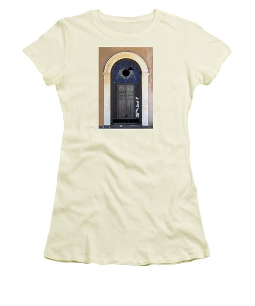 Door With A Hole Women's T-Shirt (Athletic Fit)
