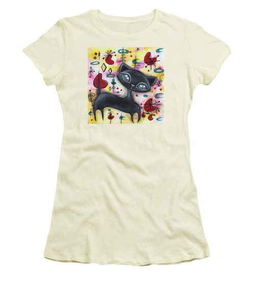 Dorothy Cat Women's T-Shirt (Junior Cut) by Abril Andrade Griffith