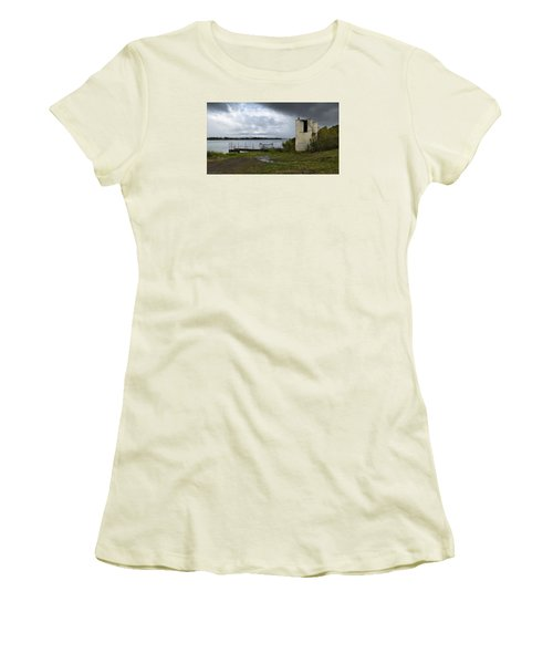 Women's T-Shirt (Junior Cut) featuring the photograph Down By The River 01 by Kevin Chippindall