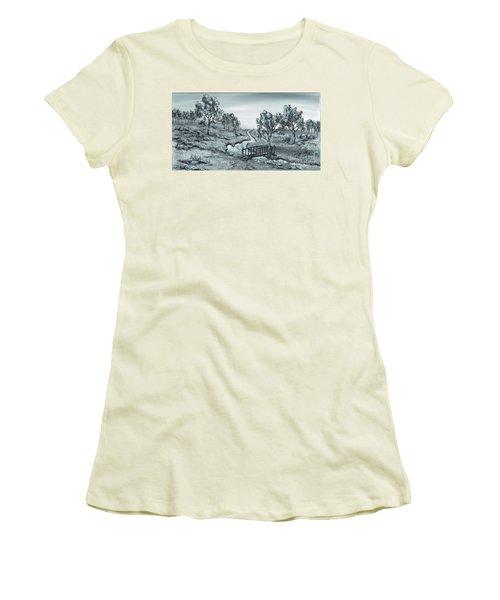 Down Stream Women's T-Shirt (Junior Cut) by Kenneth Clarke