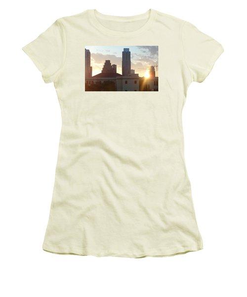 Downtown Austin Women's T-Shirt (Junior Cut) by Karen J Shine