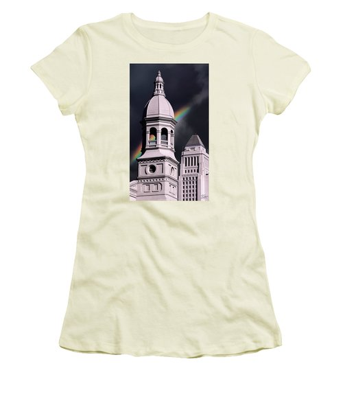 Downtown Buildings Women's T-Shirt (Athletic Fit)