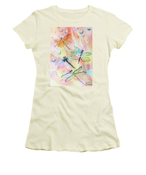 Women's T-Shirt (Athletic Fit) featuring the painting Dragon Diversity by Denise Tomasura