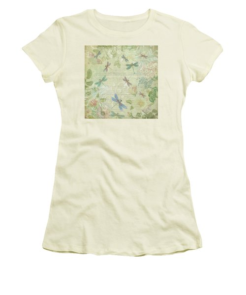 Dragonfly Dream Women's T-Shirt (Junior Cut) by Peggy Collins