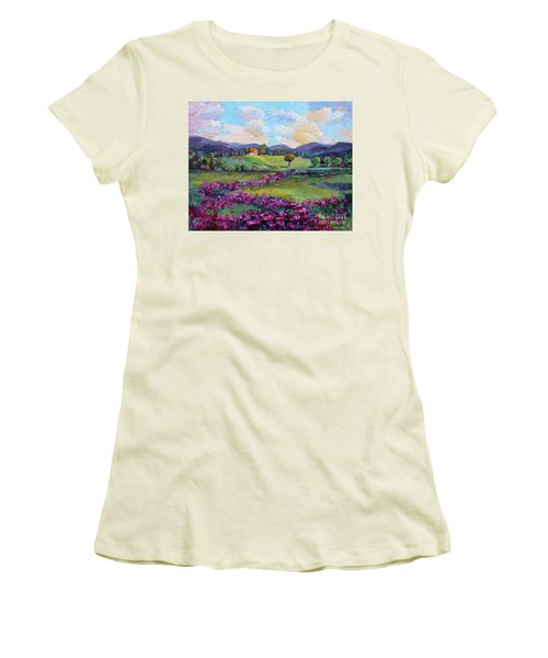 Women's T-Shirt (Junior Cut) featuring the painting Dream In Color by Jennifer Beaudet
