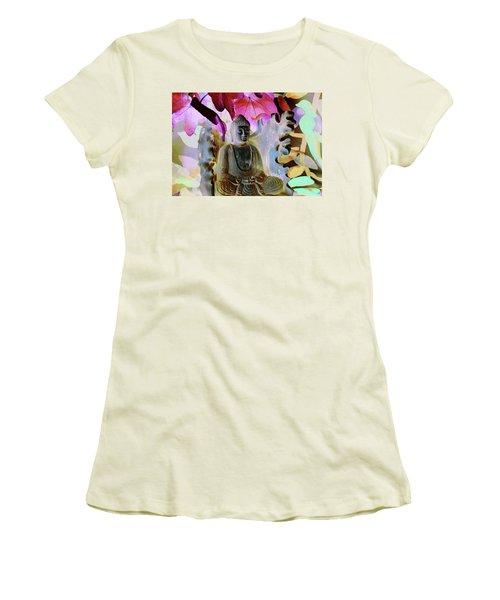 Dream Of Peace Come True Women's T-Shirt (Junior Cut) by Amara Dacer