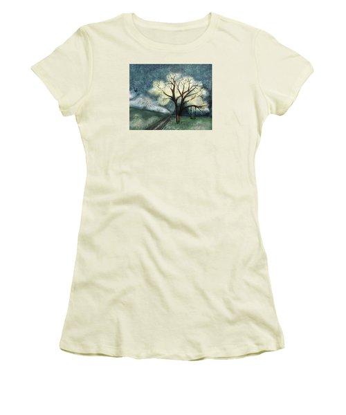 Dream Tree Women's T-Shirt (Junior Cut) by Annette Berglund