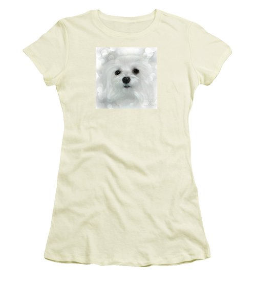 Women's T-Shirt (Junior Cut) featuring the photograph Dreams In White by Morag Bates