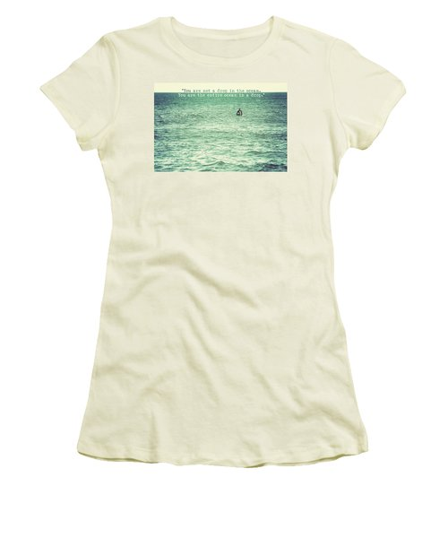 Drop In The Ocean Surfer Vintage Women's T-Shirt (Junior Cut) by Terry DeLuco